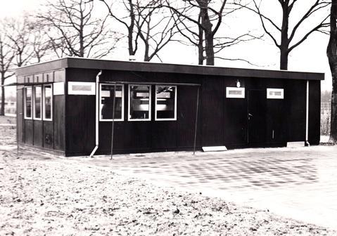 Het eerste honkbal clubhuis