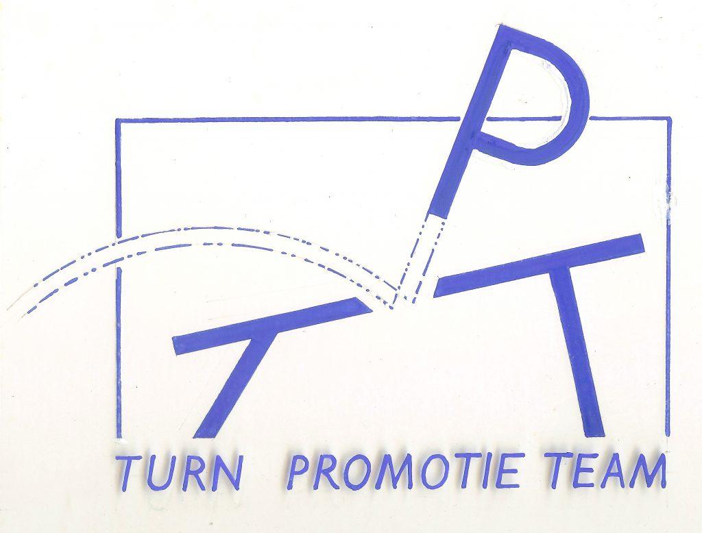 Eerste logo van het TurnPromotieTeam