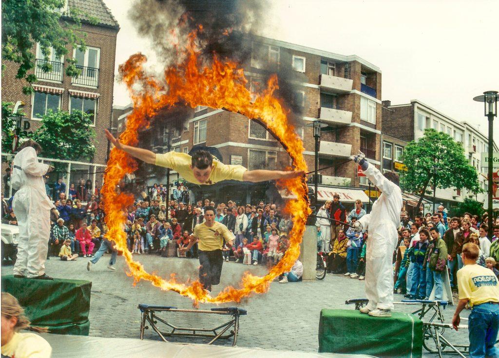 Brandende hoepel Ganzenheuvel