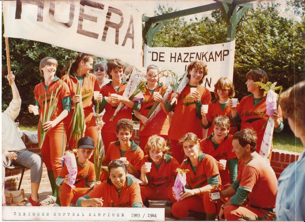1984 Softbal dames kampioen